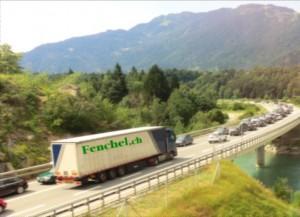 Der Isla Bella Tunnel wird gesperrt und es folgt eine Umleitung über die Kantonsstrasse über Bonaduz.