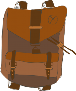 Grauer Rucksack mit Helsana Aufschrift ist gefunden worden. (Symbolbild)