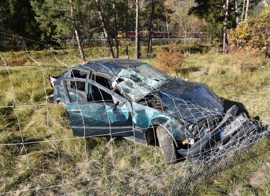 Rodels: Ein Selbstunfall auf der A13