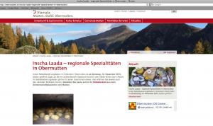 Inscha Laada – regionale Spezialitäten in Obermutten. (Symbolbild)