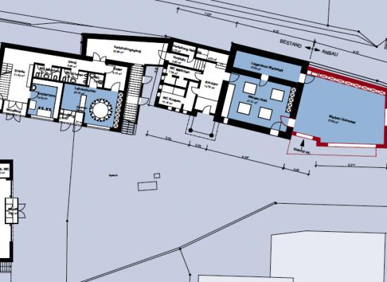 Die Grundrisse vom neuen Schulanbau in Tomils