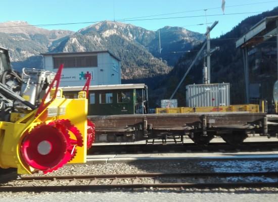 RhB Thusis: Für den Winter gerüstet