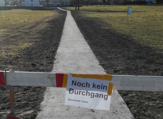 Summaprada: Neuer Fußweg zum Bahnhof Cazis