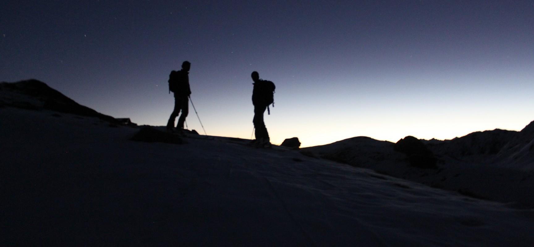 Freies Skitourentraining auf dem Heinzenberg
