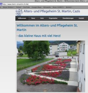 Das Alters- und Pflegeheim in Cazis sucht Verstärkung.