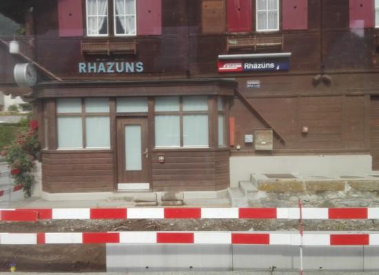 Streckenunterbrüche zwischen Bonaduz und Rhäzüns