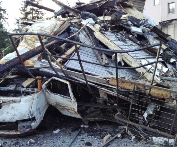 Nach dem Großbrand von Thusis