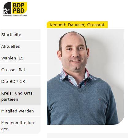 Auch BDP-Großrat Kenneth Danuser setzt sich für Olympia 2026 ein (Bild: BDP)