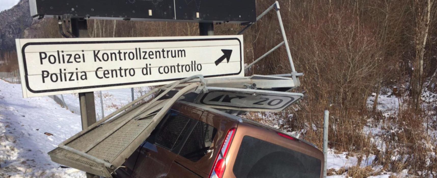 Unfall auf A13 in Rothenbrunnen