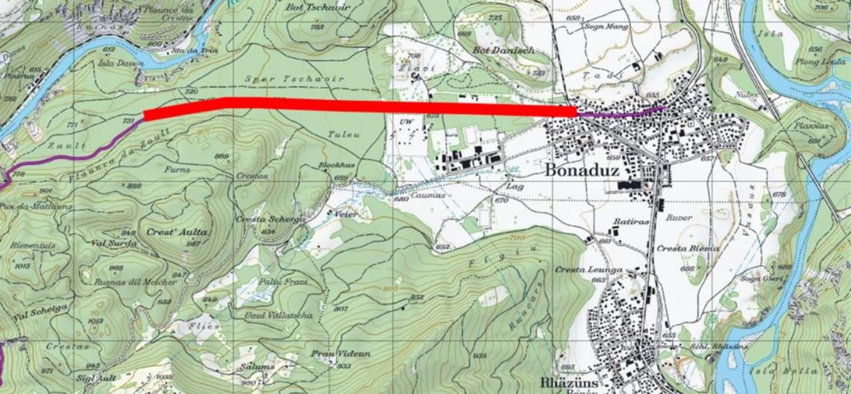 Straße zwischen Bonaduz und Zault wird sicherer