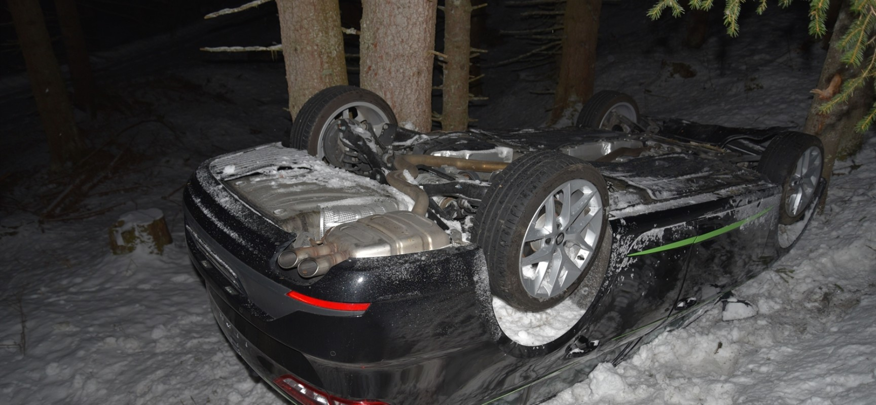 Unfall in Tschappina – Totalschaden