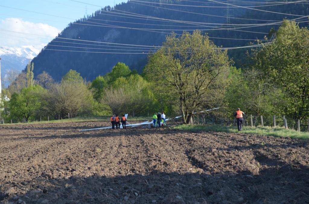 Absturzstelle östlich von Rhäzüns (Foto: Kapo GR)