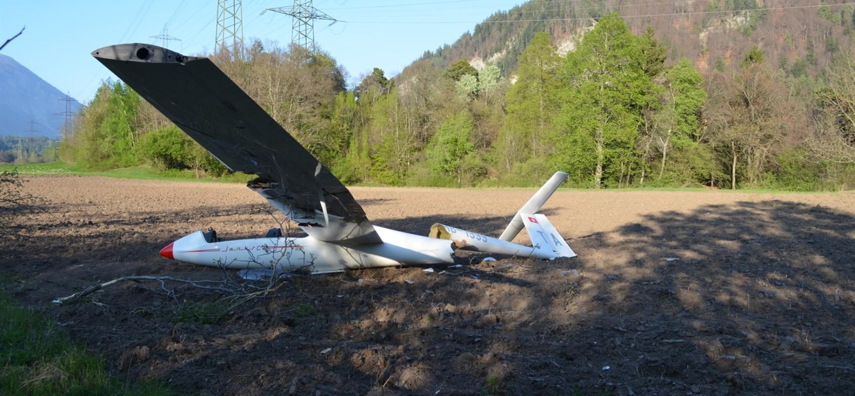 Flugunfall in Rhäzüns: Flugzeug bei Notlandung abgestürzt