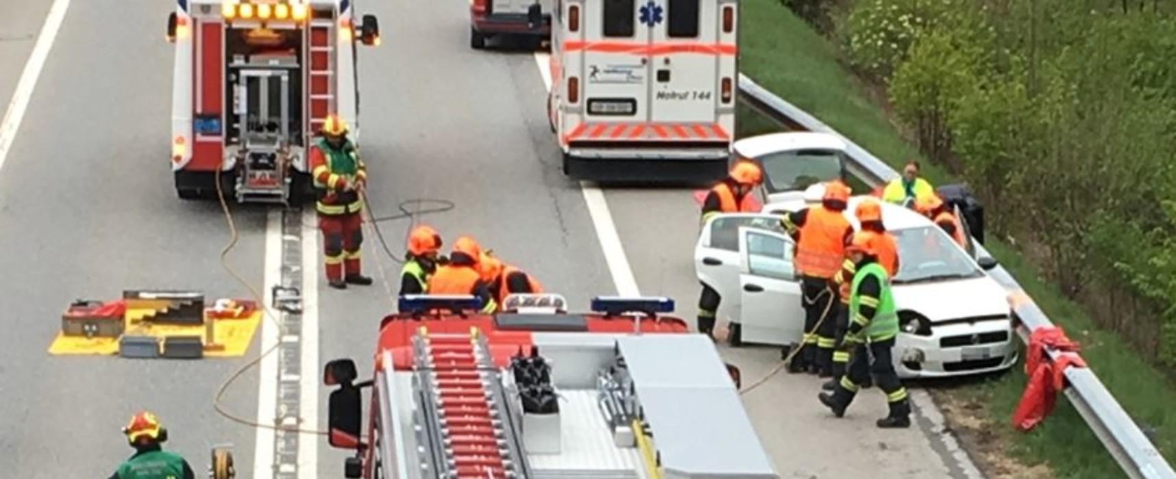 Unfall in Bonaduz vor Tunnel Plazzas: