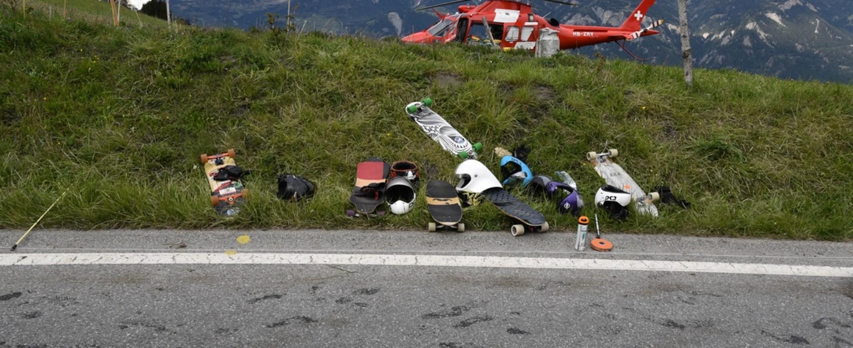 Unfall auf Nebenstraße von Tschappina nach Urmein::