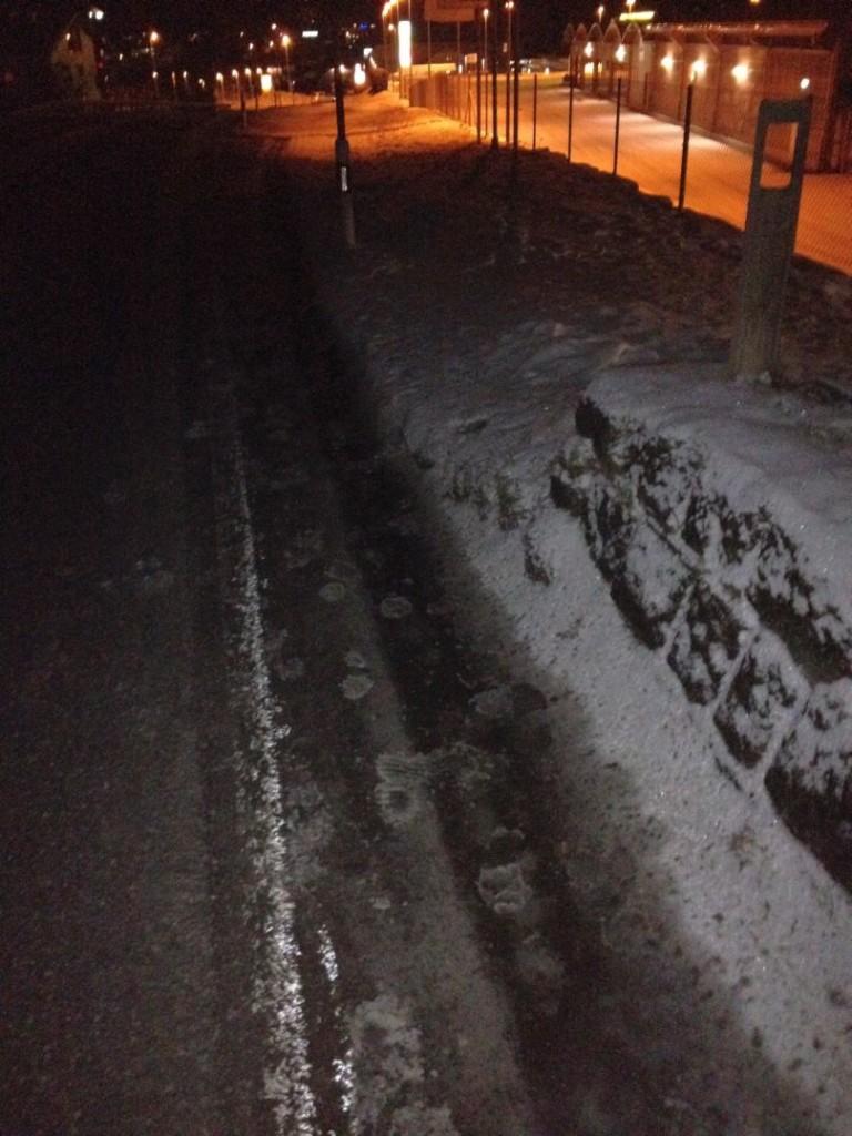 Arbeitsweg zu Aldi Thusis im Winter (Foto: DZ)